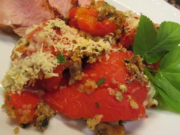 Rezept: Gemüse: Involtini di peperoni (Sizilien/Lipari)