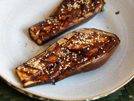 Beilage: Miso-Auberginen aus dem Ofen - Rezept - Bild Nr. 2