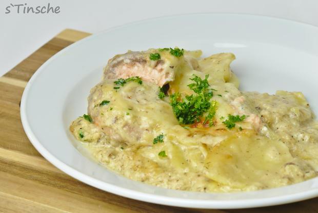 Kartoffel-Lachs-Auflauf - Rezept - Bild Nr. 7988
