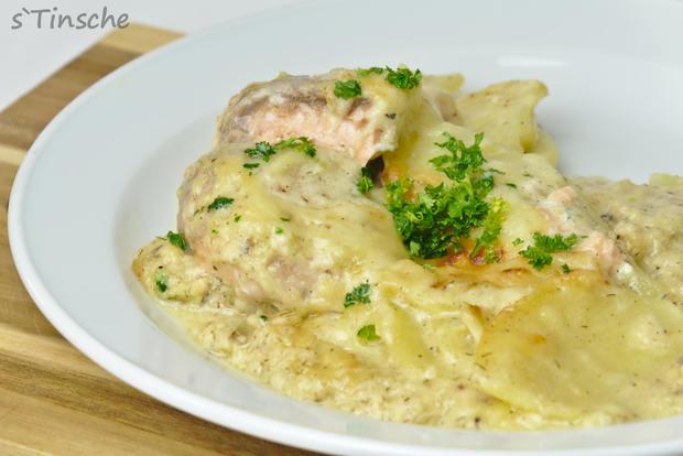 Kartoffel-Lachs-Auflauf - Rezept - Bild Nr. 7990
