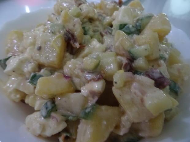 Lamm-Spieße mit Kartoffel-Gurken-Feta-Salat - Rezept - Bild Nr. 8014