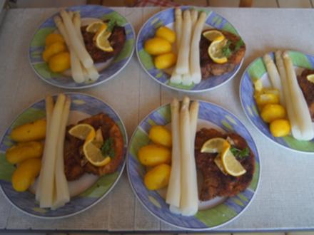 Stielkotelett mit Spargel und Kartoffeln - Rezept - Bild Nr. 2