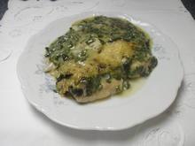 Seelachs mit Spinatsoße überbacken - Rezept - Bild Nr. 8037