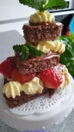 Mini-Kuchenkreation u. aromarisierte Erdbeeren = kochbar Challenge 4.0 (Mai 2019) - Rezept - Bild Nr. 2