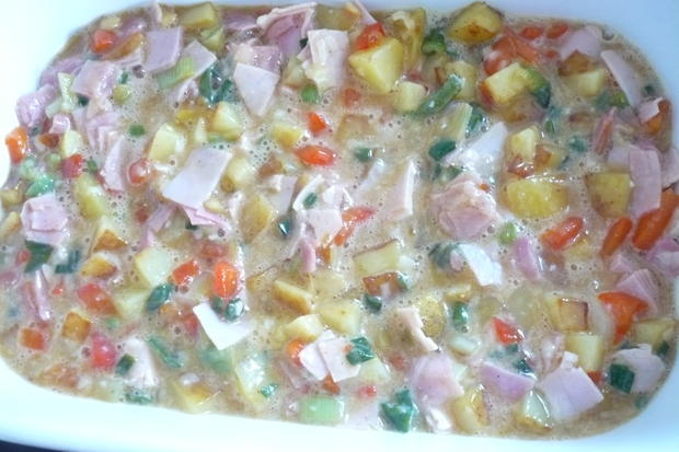 Frittata mit Schinken - Rezept - Bild Nr. 8059