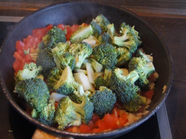 Schweinenackensteak mit pikanten Gemüse - Rezept - Bild Nr. 9