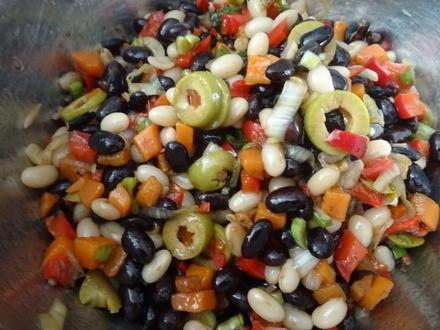 Bunter Bohnen-Salat - Rezept - Bild Nr. 8073
