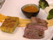 Iberico Secreto mit Tortilla de Patatas, gegrilltem Broccoli und Mandelmayonnaise - Rezept - Bild Nr. 8069