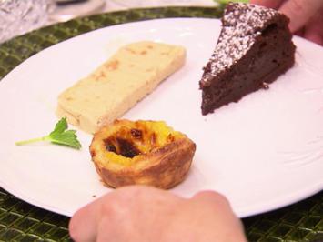 Schokoladenkuchen, Pasteis de Nata, Amarettini-Parfait - Rezept - Bild Nr. 8069