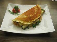 Pfannekuchen gefüllt mit Schinken, Tomaten, Rucola und Spargel - Rezept - Bild Nr. 8069
