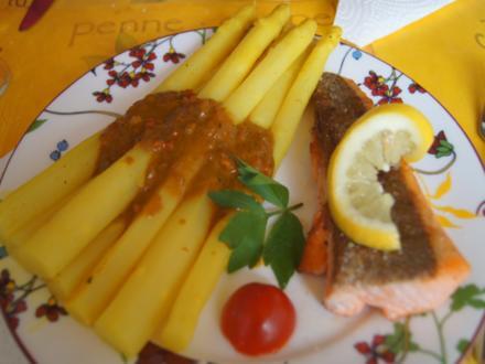 Curry-Spargel mit Lachsforellenfilet - Rezept - Bild Nr. 8079