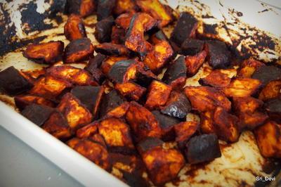 Rezept: Beilage: Scharfe Ofen-Auberginen