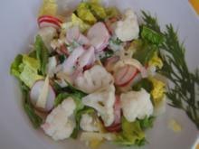 Gemischter Salat u.a. mit Blumenkohl - Rezept - Bild Nr. 8090