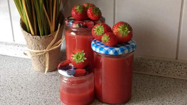 Einfache Samt - Erdbeermarmelade - Rezept - Bild Nr. 2