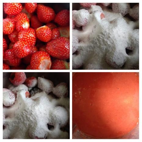 Einfache Samt - Erdbeermarmelade - Rezept - Bild Nr. 8093