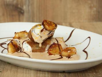 Crêpes mit Bananenquark und Portwein-Zabaglione (Detlef Steves) - Rezept - Bild Nr. 2