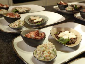 Kabeljaubäckchen auf Belugalinsen, Pulpo auf Kartoffelstampf und Weiteres aus dem Meer - Rezept - Bild Nr. 8100