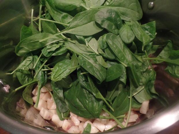 Wachsweiche Eier mit Spinat - Rezept - Bild Nr. 8103