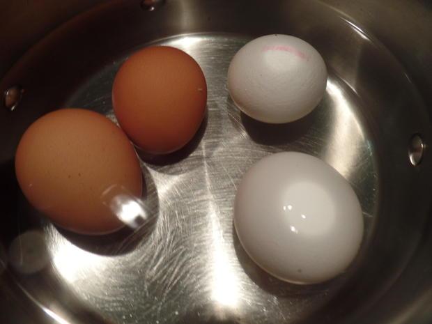 Wachsweiche Eier mit Spinat - Rezept - Bild Nr. 8106