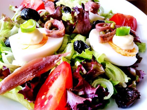 Bunter Salatteller (Hauptspeise) = kochbar Challenge 5.0 (Mai 2019) - Rezept - Bild Nr. 8141