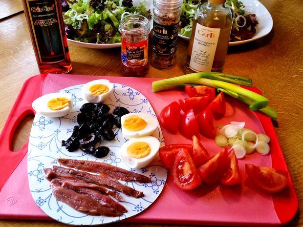 Bunter Salatteller (Hauptspeise) = kochbar Challenge 5.0 (Mai 2019) - Rezept - Bild Nr. 8143