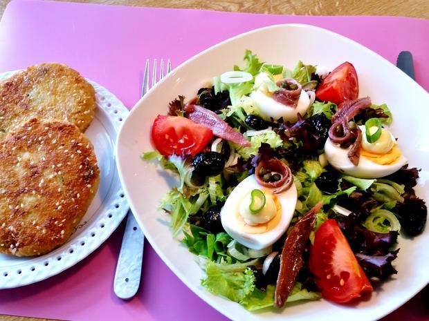 Bunter Salatteller (Hauptspeise) = kochbar Challenge 5.0 (Mai 2019) - Rezept - Bild Nr. 8145