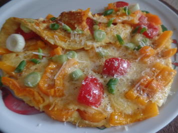 Rezept: Paprika -Tomaten-Omelett