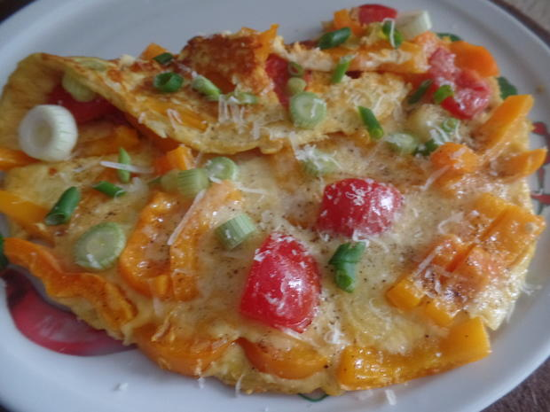 Paprika -Tomaten-Omelett - Rezept - Bild Nr. 8140