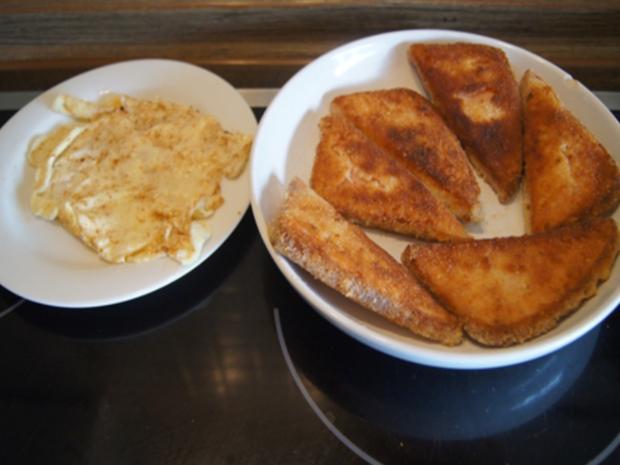 Panierter Leberkäse mit Pimentos und herzhaften Bratkartoffeln - Rezept - Bild Nr. 8155