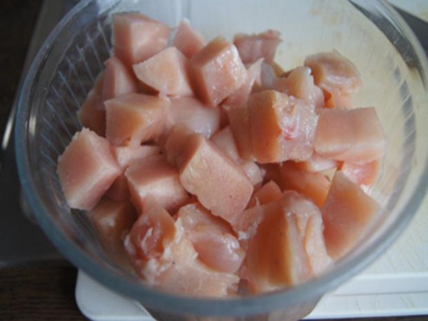 Ausgebackene Hähnchenbrustfiletwürfel und Mie-Nudeln mit Ei und Gemüse - Rezept - Bild Nr. 8152