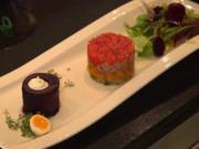 Gemüse-Kalbfleisch-Sülzchen an Roter Bete mit Meerettichschaum - Rezept - Bild Nr. 8153