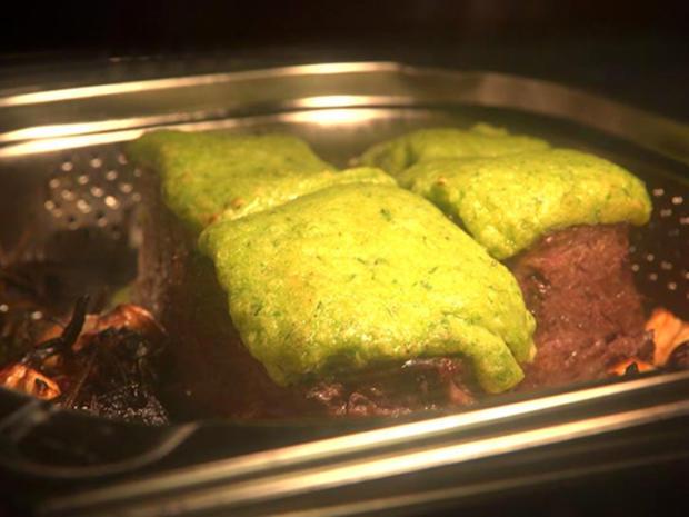 Dry Aged Sirloinsteak mit Lauchkruste an Portweinsoße - Rezept - Bild Nr. 8151