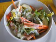 Gemischter Salat mit Jogurt Dressing - Rezept - Bild Nr. 8164