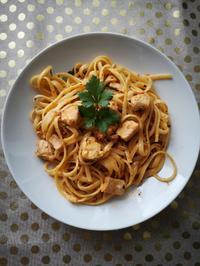 Pasta mit Lachs, Garnelen und Pesto Rustico - Rezept - Bild Nr. 8164