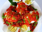 Telur Balado - Gekochte Eier auf Balado Art - Rezept - Bild Nr. 8167