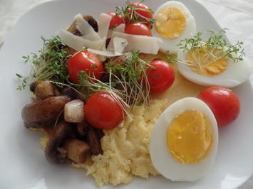 Polenta-Bowl mi Gemüse und Ei - Rezept - Bild Nr. 8171