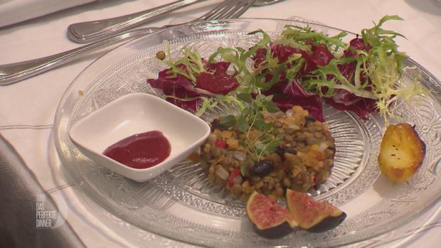 Linsen-Feigen-Salat mit Backobst, Friséesalat und Himbeerdressing - Rezept - Bild Nr. 8177