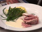 Borkumer Salzfleisch mit Kartoffelstampf und Queller an Meerrettich-Soße - Rezept - Bild Nr. 2