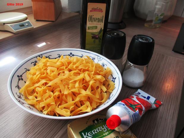 Pasta mit gebratenem Spargel und diversen Begleitern - Rezept - Bild Nr. 8180