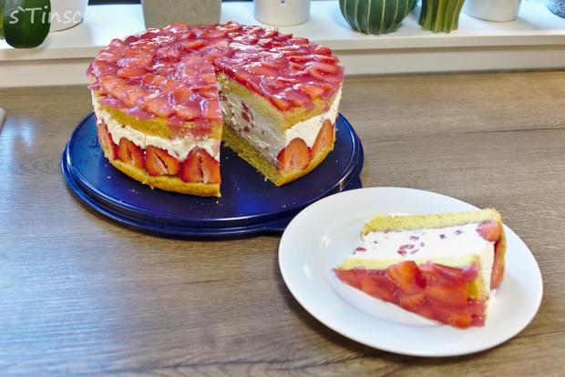 Erdbeer-Sahne-Schmand-Torte - Rezept - Bild Nr. 8187