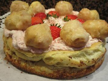 Backen: St.-Honoré-Torte mit Erdbeercreme - Rezept - Bild Nr. 8178
