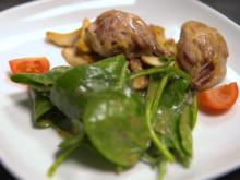 Variation von der Wachtel mit Spinatsalat - Rezept - Bild Nr. 2