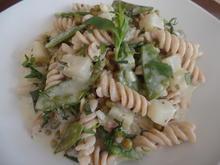 Dinkelnudeln mit Gemüse und Ziegenrahm - Rezept - Bild Nr. 8189