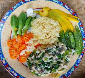 Rezept: Pilze mit Bandnudeln ala Dewi Desi