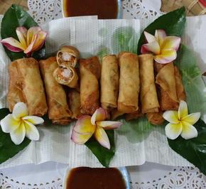 Thailändische Frühlingsrollen mit Garnelenfüllung - Rezept - Bild Nr. 8203