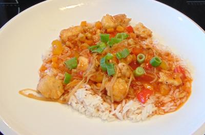 Asiatisches Hähnchen süß-sauer - Rezept - Bild Nr. 8286