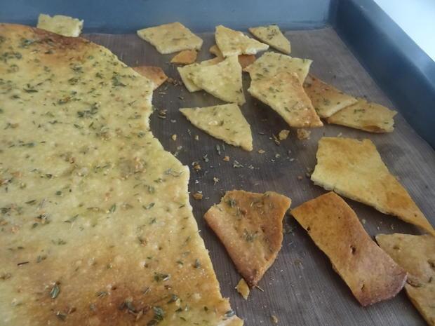 Würzige Brot-Chips mit zweierlei Dips - Rezept - Bild Nr. 8226