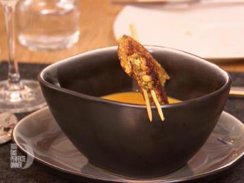 Süßkartoffel-Ingwer-Suppe mit Carabiniera-Garnele auf Zitronengras - Rezept - Bild Nr. 2