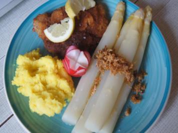 Nackenkotelett mit Spargel und Kartoffelstampf - Rezept - Bild Nr. 2