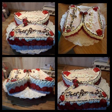 Schmetterling, s Torte mit Quark-Sahne Erdbeeren - Rezept - Bild Nr. 8258